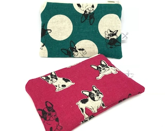 Mini zipper pouch French Terrier