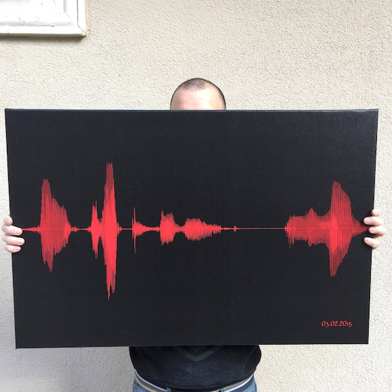 Custom Song SoundWave Art Canvas Print As Birthday Gift For