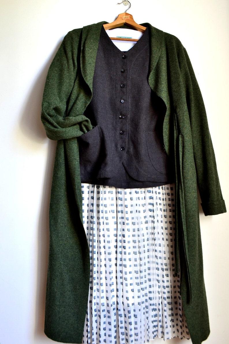 Single jacket Pebble Jacket ; L2L size Linen Wool cardigan