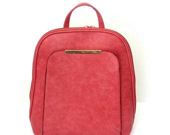 Σακίδιο κόκκινο με εξωτερική τσέπη