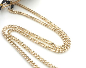 Sunglasses gold chain, Eyeglasses holder, Gold glasses chain, Accessories for sunglasses, Eyeglasses necklace, Reading glasses gold chain