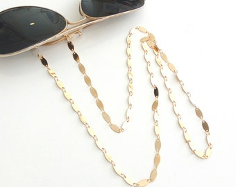 Oval gold sunglasses chain / Επίχρυση οβάλ αλυσίδα για γυαλιά