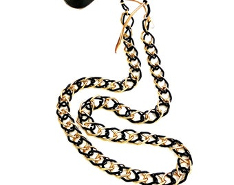 Sunglasses double chain necklace, Gold black glasses chain, Sunglasses double chain, Laces for glasses, Sunglasses holder