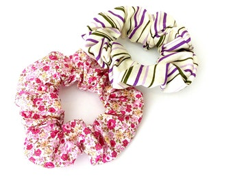 Pink set scrunchies, Σετ λαστιχάκια για τα μαλλιά