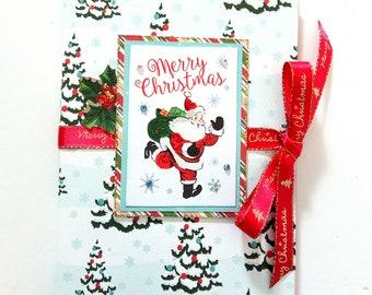 Christmas scrapbook mini photo album,Premade pages, Christmas memories, Handmade mini album, Christmas gift, Photo book, Ready to ship