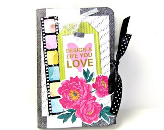 Scrapbook mini album / Premade album / 4x6 mini album /Photo memory book / Handmade mini album / Photo journal/ Birthday gift /Ready to ship