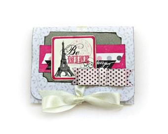 Valentine's day gift, Love mini album, Premade pages, Scrapbook album, Photo book,Memory book, Paris mini album, Gift for her, Ready to ship