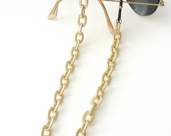 Sunglasses gold chain, Sunglasses necklace, Eyeglasses holder, Gold chain for glasses, Eyeglasses luxury necklace, Reading glasses chain