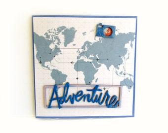 Vacation photo book/ Travel mini album/ Handmade book/ Photo book/ Square accordion album/ Premade scrapbook mini album/ Ready to ship