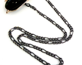 Sunglasses chain, Black sunglasses chain, Eyeglasses necklace, Black glasses chain, Sunglasses chain necklace, Reading glasses, Gift for her