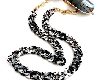 Animal print sunglasses chain / Aλυσίδα για γυαλιά animal print leopard