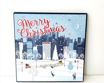 Christmas accordion mini album, Scrapbook Christmas album, Photo book, Handmade mini album, Christmas gift, Memories photo book