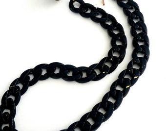 Black sunglasses chain, Μαύρη αλυσίδα για γυαλιά
