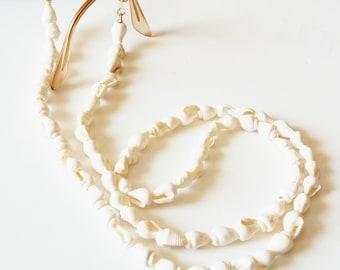 White sea shell sunglasses cord, Sunglasses chain, Summer must have, Beach sunglasses strap, Eyewear necklace, Boho sunglasses strap