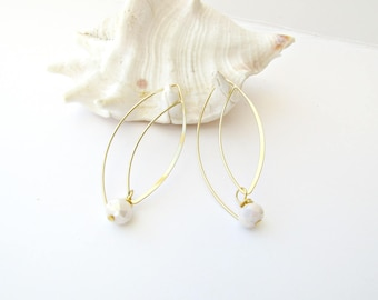 Bridal earrings, Delicate earrings, Hook Earrings, Gold plated earrings, Long wire earrings, Wedding earrings, Christmas gift, Gift for her