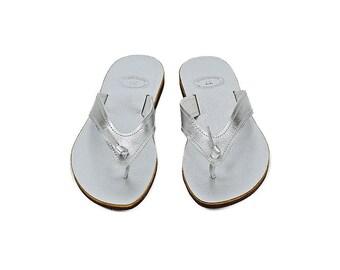Silver sandals, Greek leather sandals, Beach wedding flats, Silver flip flops, Beach party shoes, Leather shoes, Beach sandals, Luxury shoes