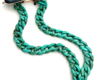 Turquoise flat sunglasses chain/ Τυρκουάζ αλυσίδα για γυαλιά