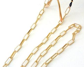 Sunglasses gold chain Gold glasses chain Accessories for sunglasses Sunglasses necklace Laces for sunglasses Eyeglasses holder Gift for her