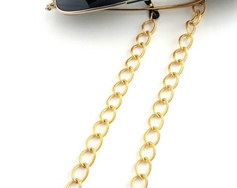 Sunglasses gold chain, Sunglasses necklace, Eyeglasses holder, Gold chain glasses necklace,Eyewear chain, Laces for sunglasses, Gift for her