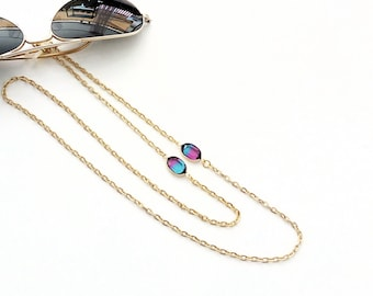 Sunglasses chain necklace, Gold glasses chain, Lanyard chain, Sunglass holder, Gold eyeglass necklace, reading glasses, Mother's day gift