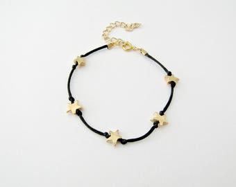 Tiny stars bracelet, Gold stars bracelet, Delicate bracelet, Minimalist bracelet, Everyday jewelry, Gift jewelry