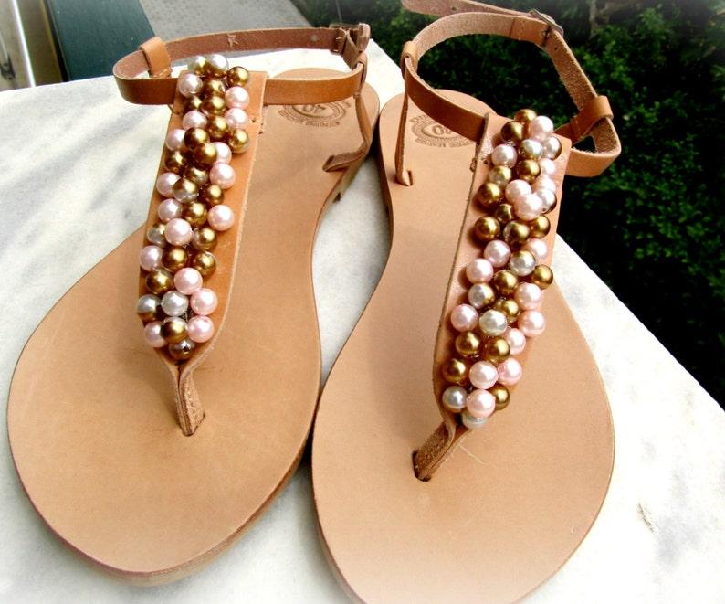 51626688faf Wedding sandals Greek leather sandals Pearls sandals Summer