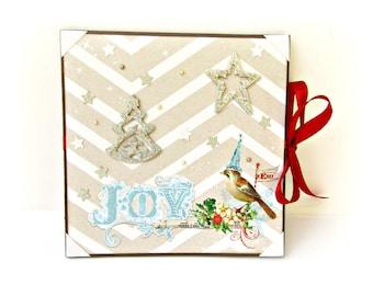 Christmas mini album / Scrapbook album / Accordion mini album / Square album / Premade pages / Photo book / Christmas gift / Ready to ship