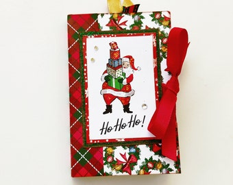 Christmas retro mini album, Christmas memories, Handmade scrapbooking album, New year gift, Retro Christmas gift, Photo book, Ready to ship