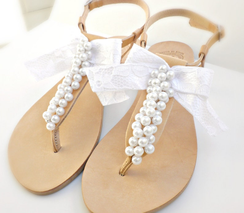 05c12c5dd6c10 Bridal sandals Greek leather sandals-Wedding sandals