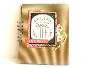 Travel journal/ Scrapbook mini abum/ Premade mini album/ Junk journal / Adventure photo book/ Journal with pockets / Ready to ship