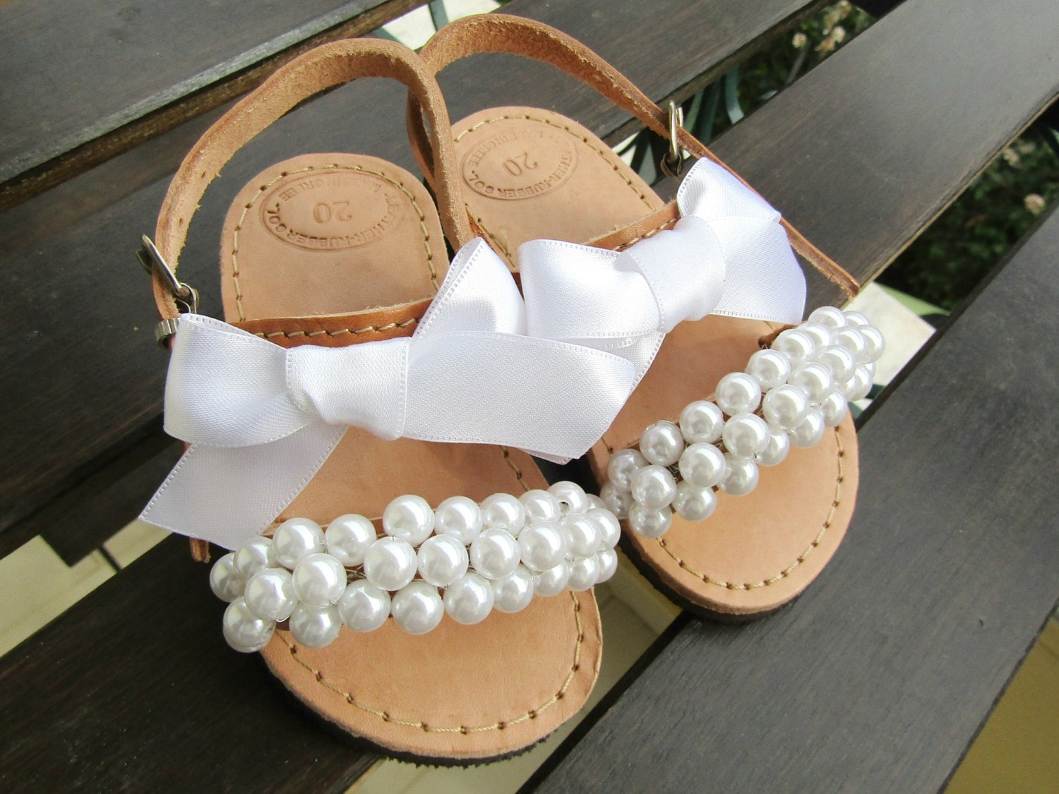 Flower Girl Sandals Wedding Sandals Girl Sandals White Pearl