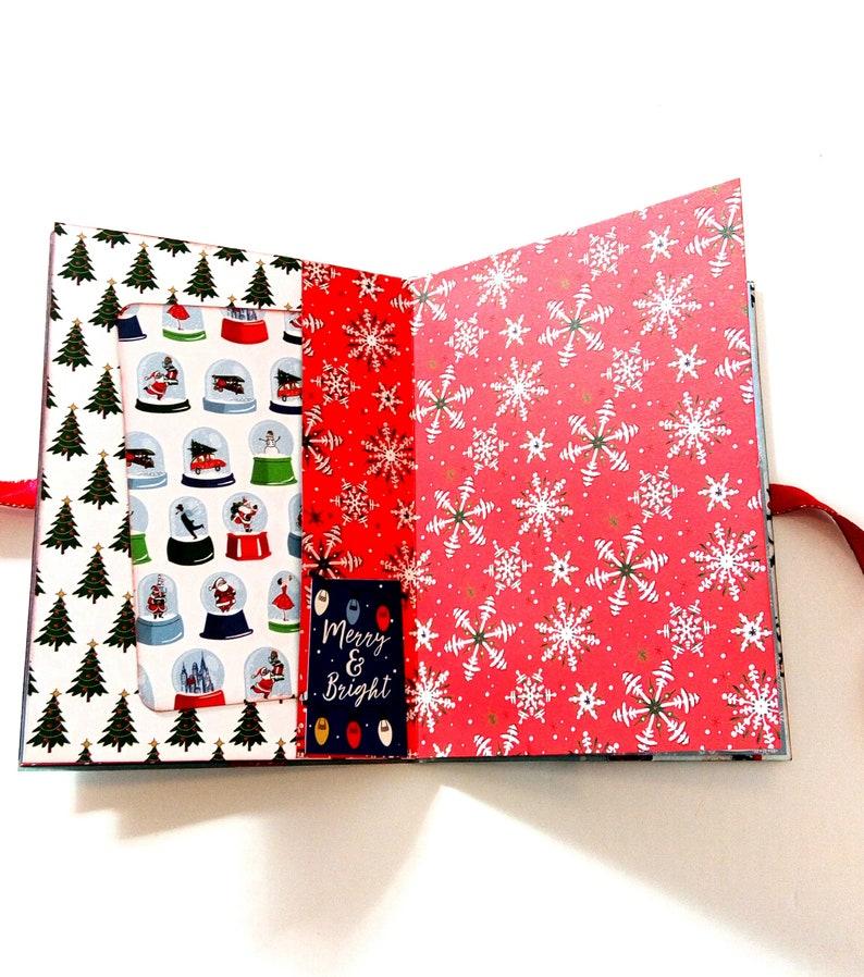 Christmas gift Ready to ship Handmade mini album Photo book Christmas memories Christmas scrapbook mini photo album,Premade pages