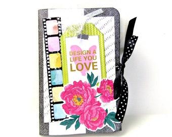 Scrapbook mini album / Premade album / 4x6 mini album /Photo memory book / Handmade mini album / Photo journal/ Birthday gift /Ready to ship