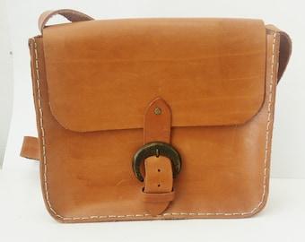 Natural Leather shoulder bag, Greek leather bag, Real leather bag, Crossbody bag, Women medium bag, Everyday bag