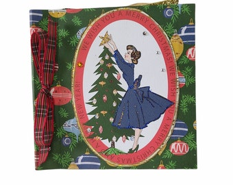 Retro Christmas mini album, Christmas memories album, Christmas memories 6x6 album, Vintage mini album, Christmas gift, Premade album