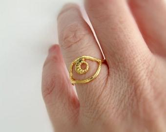 Επίχρυσο δαχτυλίδι μάτι