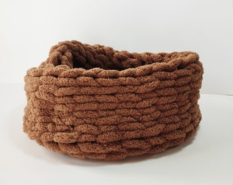 Brown neckwarmer, Handmade neckwarmer, Soft brown cowl, Knitted Wrap Around, Infinity Scarf, Infinity scarf, Knit cowl, Knit accessory