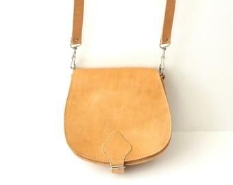 Greek leather bag, Women handbag, Small Leather Saddle Bag, Mini crossbody bag