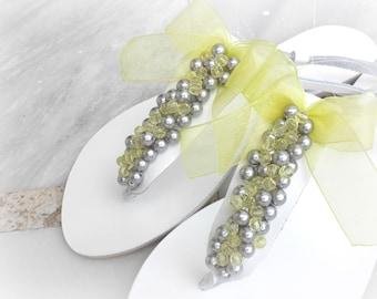 White leather sandals, Wedding sandals, Bridal party, Greek sandals, Beach wedding, Bridesmaids shoes, Summer shoes, Bridal party,