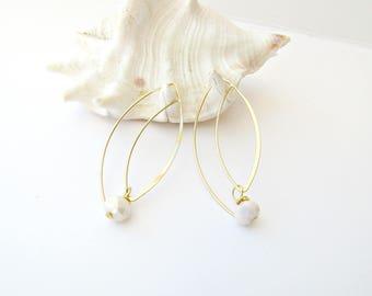 Bridal earrings, Delicate earrings, Hook Earrings, Gold plated earrings, Long wire earrings, Wedding earrings, Christmas gift, Gift for her