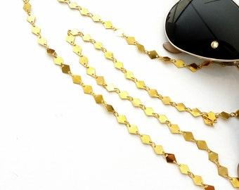 Sunglasses gold chain, Geometric gold chain for glasses, Sunglasses necklace, Eyewear chain, Sunglasses holder, Fashion trend glasses chain