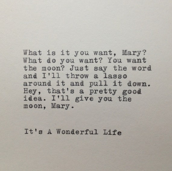 Its A Wonderful Life Quotes It's A Wonderful Life Quote Typed on Typewriter | Etsy Its A Wonderful Life Quotes