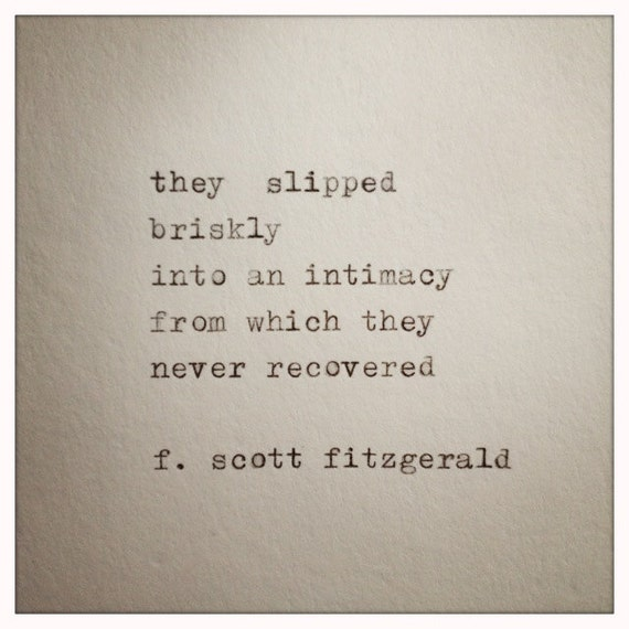 F Scott Fitzgerald Love Quote Made On Typewriter Typewriter Etsy