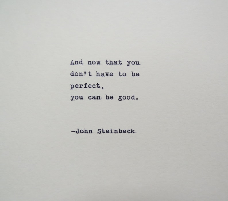 John Steinbeck East Of Eden Quote Made On Typewriter Etsy