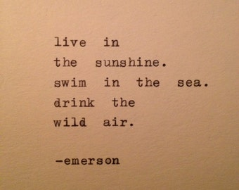 Emerson Quote Hand Typed on Typewriter