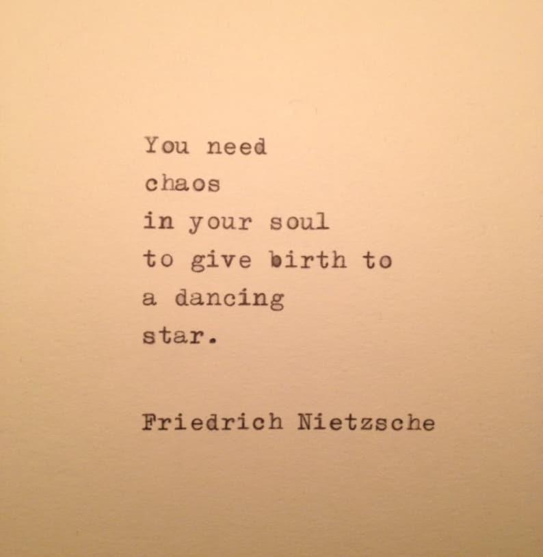 Friedrich Nietzsche Quote Typed On Typewriter Etsy