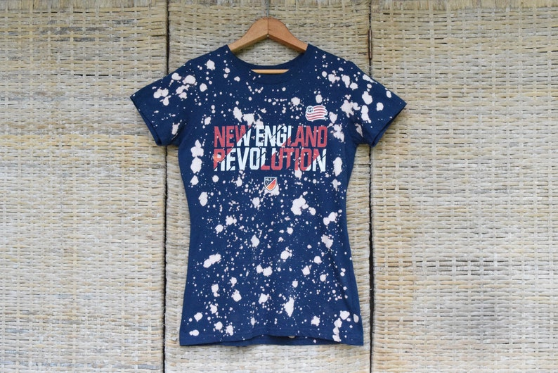 new style 1f4f2 80ea1 New England Revolution Reverse Dye T Shirt   NE Revolution T Shirt   NE  Revolution Soccer Shirt   Revolution T Shirt   Revolution Soccer Top