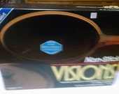 1988 corning visions amber teflon 10 quot covered skillet sealed in original box