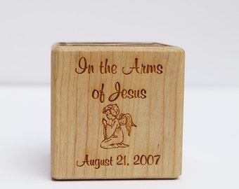 Laser Engraved Personalized Memorial Block