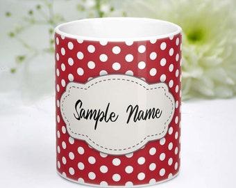 Red dot mug | Etsy